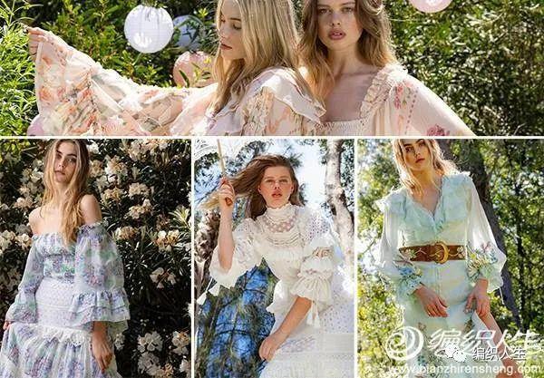 仙女风钩花装饰大毛衣,早于春姑娘的针线春意