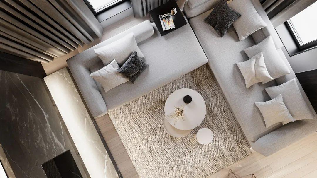 高级灰+轻奢,120㎡现代私宅